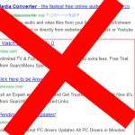 Google 検索結果内のまぎらわしい広告を非表示にする(Firefox, Google Chrome)